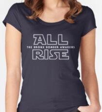 ALL RISE For Aaron Judge Yankees Bronx Bomber Star Wars Women's Fitted Scoop T-Shirt