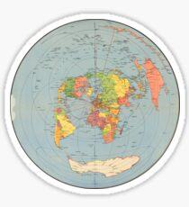 FLAT EARTH - Air Map 1947 London Sticker