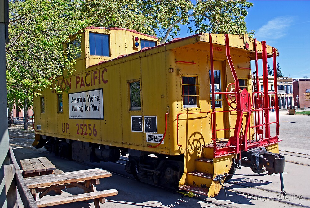 Union Pacific caboose by Lenny La Rue, IPA