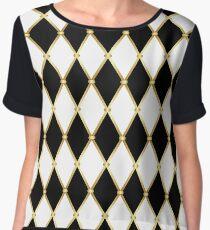 Harlequin pattern Women's Chiffon Top