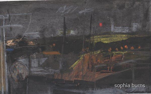 night scene in Tangier by sophia burns