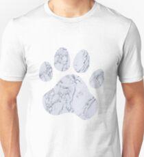 Marble Paw Print Unisex T-Shirt