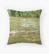 A Dozen Ducklings Throw Pillow