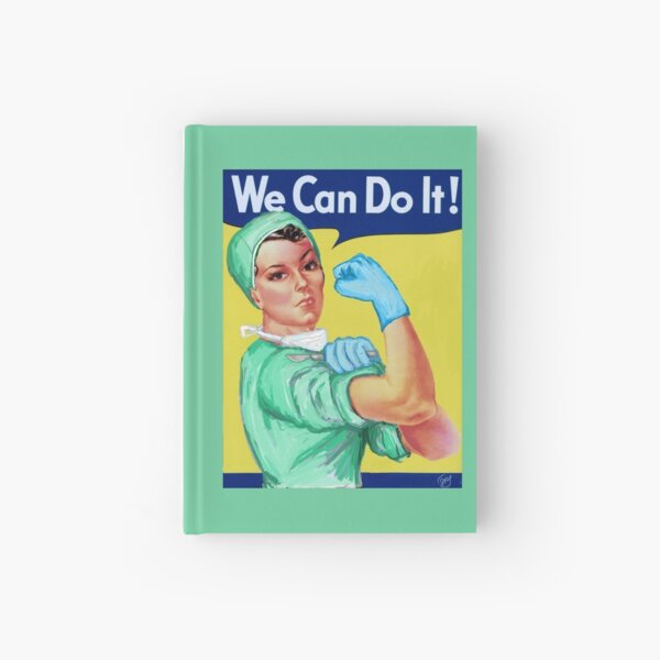 Rosie the Riveter Medical or Surgical Doctor  Hardcover Journal