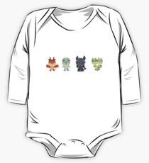 "Tiny Dragons ""How To Train Your Dragon"" One Piece - Long Sleeve"