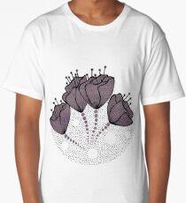 purple poppies Long T-Shirt