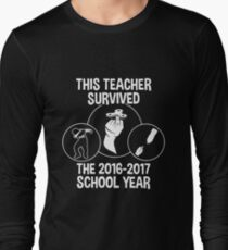 This Teacher Survived The 2016 2017 School Year T-shirts T-Shirt