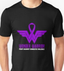Wonder Warrior Fight Against Domestic Violence T-shirts T-Shirt