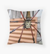 golden orb on orb Throw Pillow