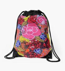 """Nala's Flowers"" by RomantzArt Drawstring Bag"