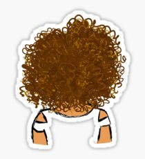 Girl with Curly Hair - Gold Souls Original Sketch Sticker