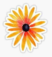 black eyed susan watercolor Sticker