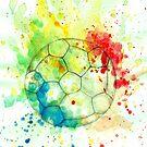 Fußballball Aquarell 5 von AnnArtshock