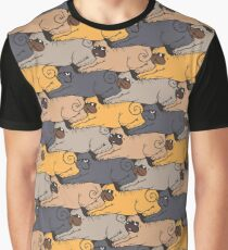 Pugs Tessellations Graphic T-Shirt