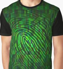 Silhouette of fingerprint Graphic T-Shirt