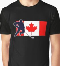 Canada Hockey Team T-Shirt & Sticker Graphic T-Shirt