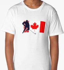Canada Hockey Team T-Shirt & Sticker Long T-Shirt