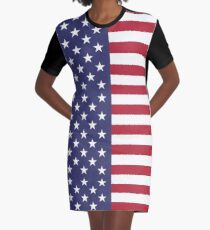 United States of America - American - Independence Day Apparel T-Shirt Graphic T-Shirt Dress