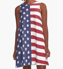 United States of America - American - Independence Day Apparel T-Shirt A-Line Dress
