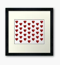 Helium hearts pattern Framed Print