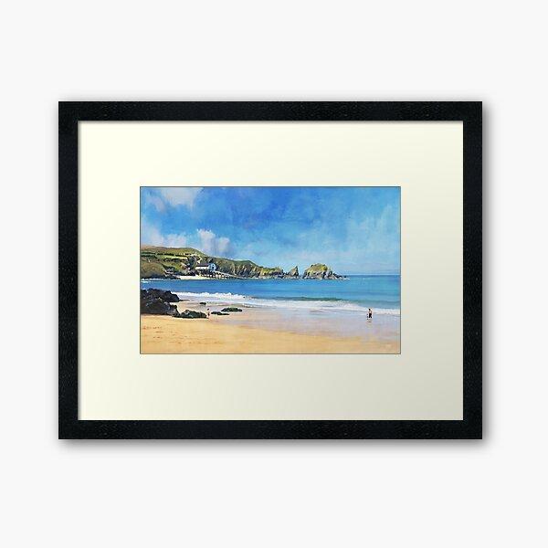 Mother Ivey's Bay, Cornwall, Original Art Framed Art Print