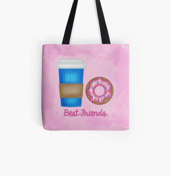 Best friends All Over Print Tote Bag