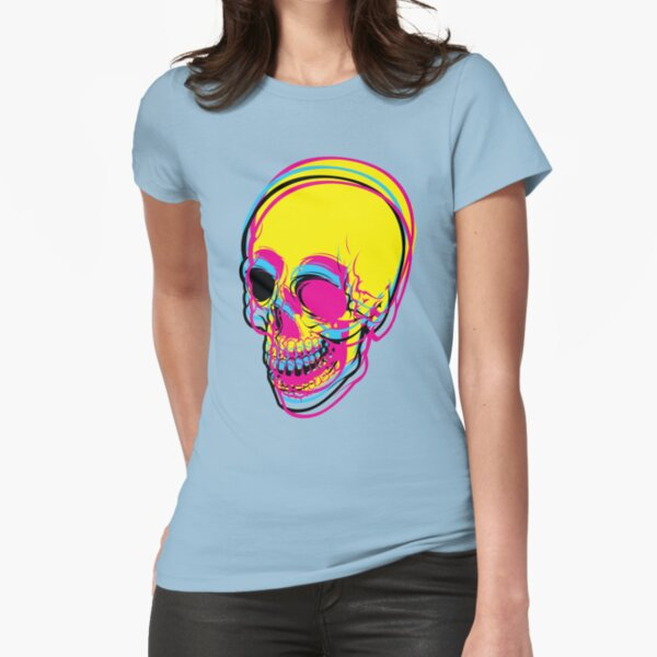 CMYK SKULL Fitted T-Shirt