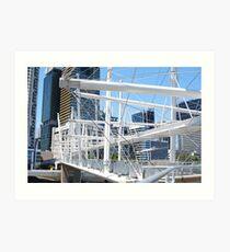 Kurilpa Bridge and Brisbane CBD Art Print