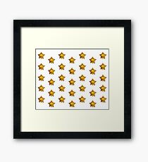 Helium star patterns Framed Print