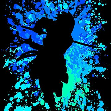 Sasuke Inspired Paint Splatter Anime Shirt by JaneFlame