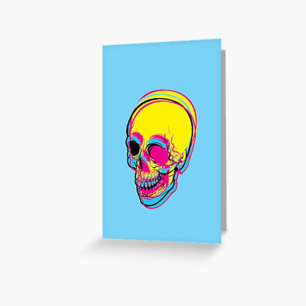 INSIDE OF ME THERE IS A CMYK SKULL FOR PRINT Greeting Card