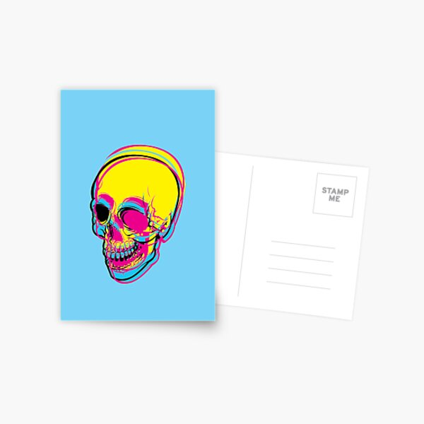 INSIDE OF ME THERE IS A CMYK SKULL FOR PRINT Postcard