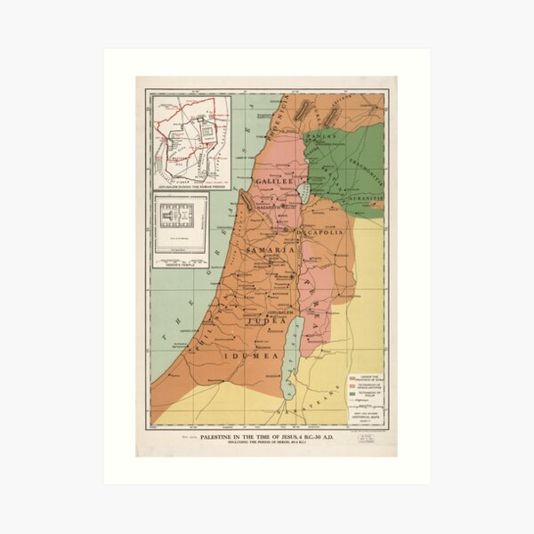 Palestine in the time of Jesus, 4 B.C. - 30 A.D Art Print