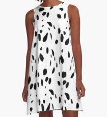Dalmatian Print A-Line Dress