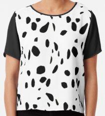 Dalmatian Print Chiffon Top