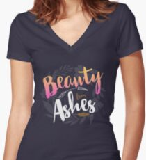 Beauty from Ashes Women's Fitted V-Neck T-Shirt