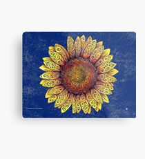 Swirly Sunflower Metalldruck