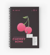cherry bomb: select Spiral Notebook