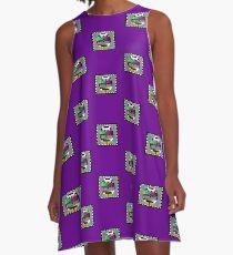 TV Test Pattern T-shirt A-Line Dress