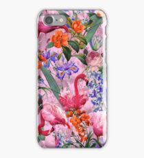 Floral and Flamingo VI pattern iPhone Case/Skin