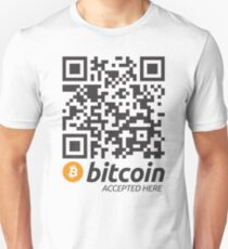 Bitcoin Accepted Here QR Code Unisex T-Shirt