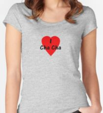 Dance - I Love Cha Cha Cha Camisa T-Shirt Women's Fitted Scoop T-Shirt