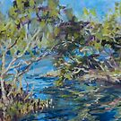 Laurieton mangroves - plein air by Terri Maddock