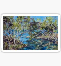 Laurieton mangroves - plein air Sticker