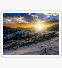 sunset in winter carpathians Sticker