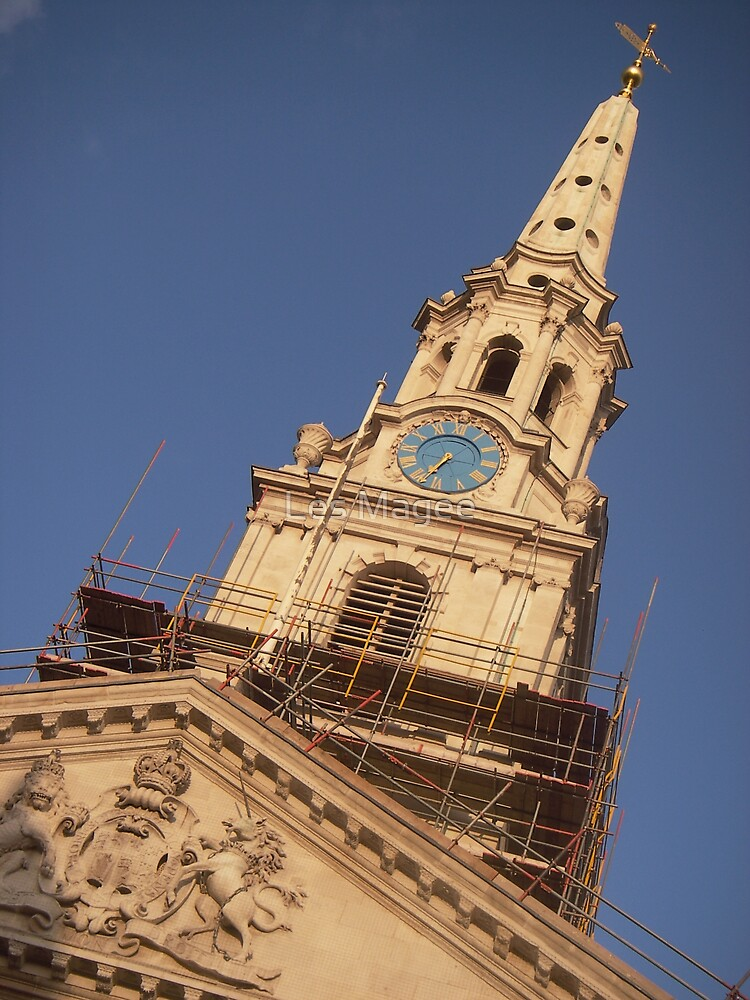 St.Martin-in-the-Fields (under construction2) by Les Magee