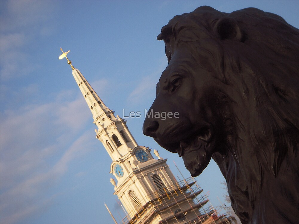 St Martins and the Lion by Les Magee