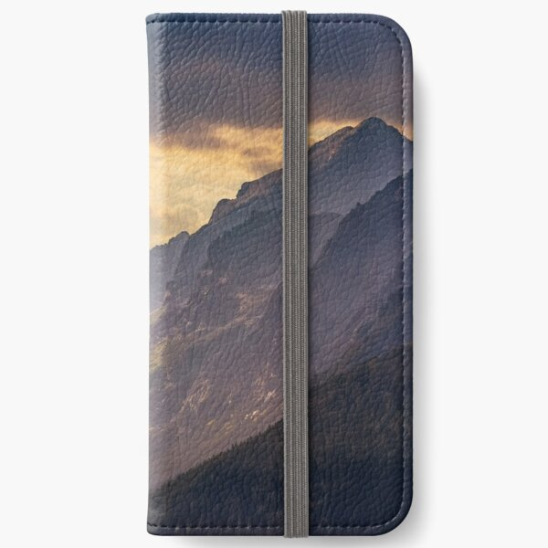 rocky tops at sunset iPhone Wallet