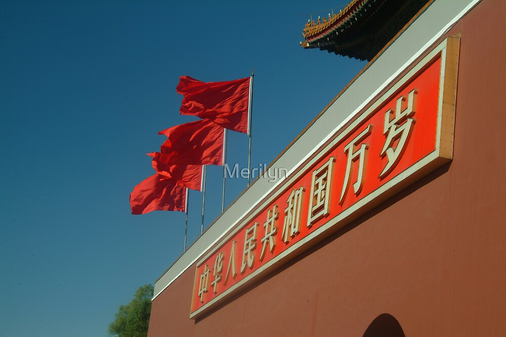 Flags Over The Forbidden Palace by Merilyn