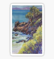 Nobbys Headland - plein air Sticker